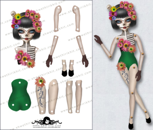 Day-of-the-Dead-paper-doll-A4sheetsample